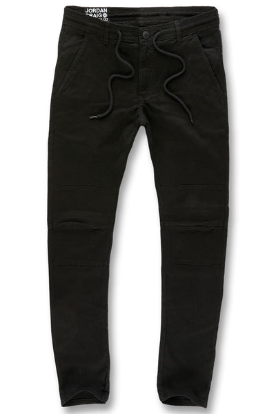 Sean - Stacked Chino Twill Pants (Black)