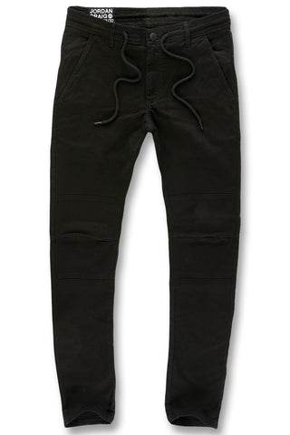 Jordan Craig - Sean - Stacked Chino Twill Pants (Black)