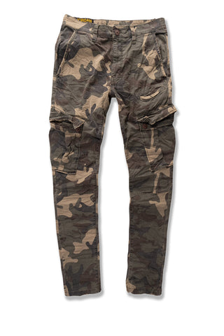 Sean - Stacked Cargo Pants (Woodland)