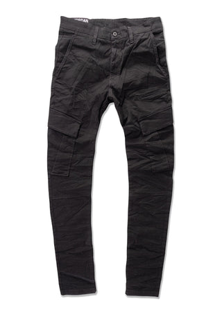 Sean - Stacked Cargo Pants (Black)