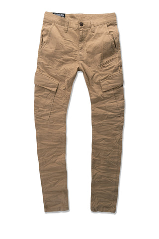 Sean - Stacked Cargo Pants (Khaki)
