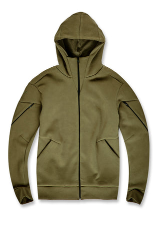 Jordan Craig - Niagara Tactical Zip Up Hoodie (Moss)