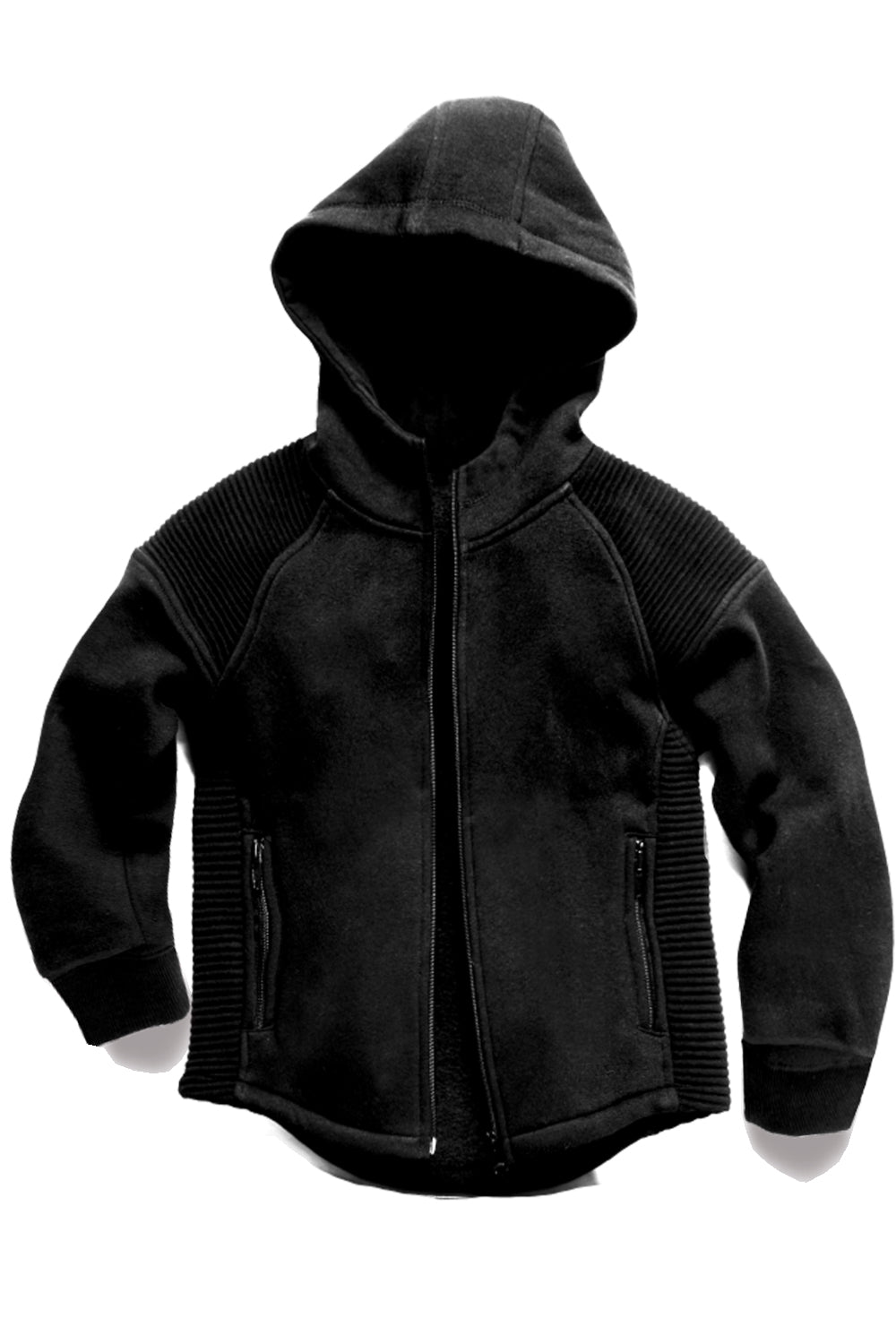 Jordan Craig - Kids Moto Zip Up Hoodie (Black)