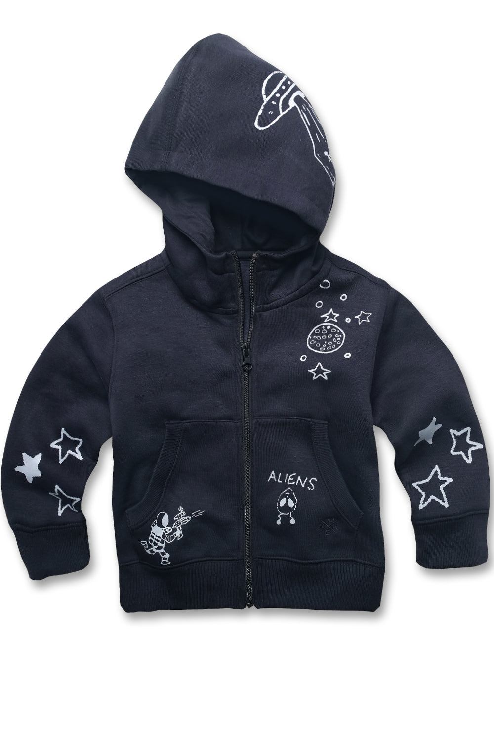Jordan Craig - Kids Galaxy Zip Up Hoodie (Navy)