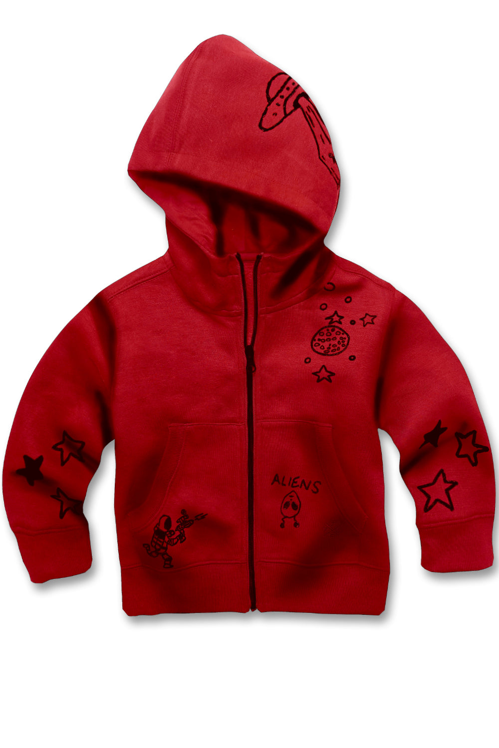 Jordan Craig - Kids Galaxy Zip Up Hoodie (Red)
