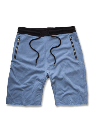 Jordan Craig - Raw Edge French Terry Shorts (Baby Blue)