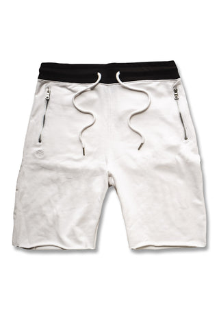 Jordan Craig - Raw Edge French Terry Shorts (White)