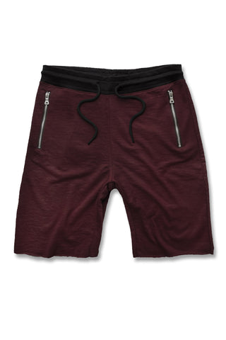 Jordan Craig - Raw Edge French Terry Shorts (Wine)