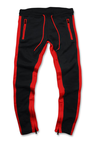 Essential Fleece Track Pants (Crimson)