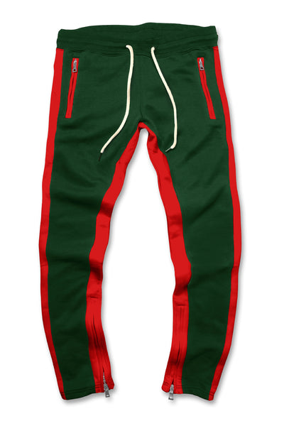 Essential Fleece Track Pants (Forest)