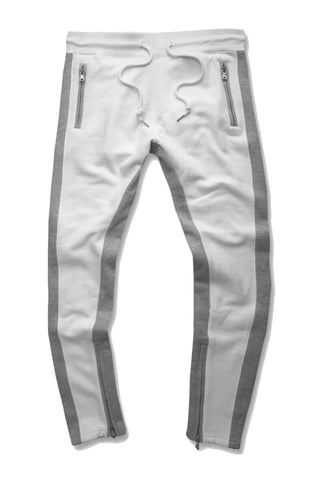 Essential Fleece Track Pants (White)