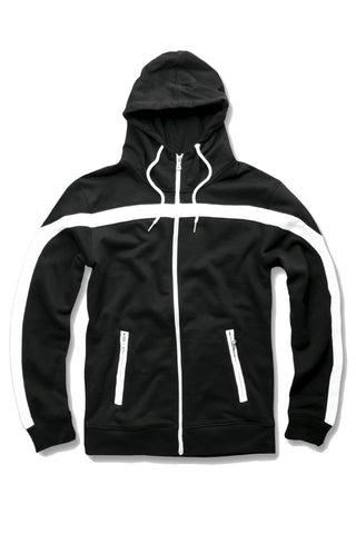 Essential Fleece Track Hoodie (Black)