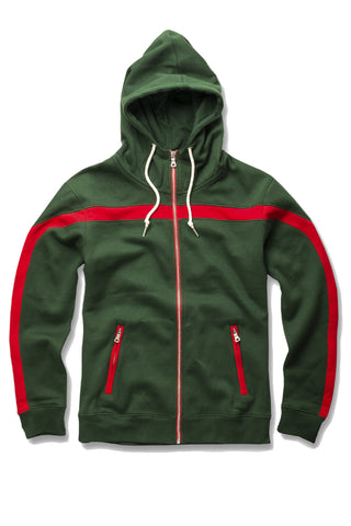 Essential Fleece Track Hoodie (Forest)