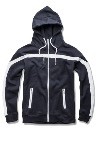 Essential Fleece Track Hoodie (Navy)