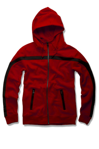 Essential Fleece Track Hoodie (Red)