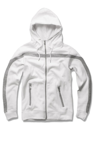 Essential Fleece Track Hoodie (White)
