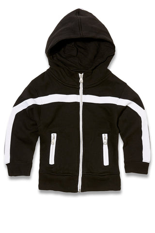 Jordan Craig - Kids Essential Fleece Track Hoodie (Black)