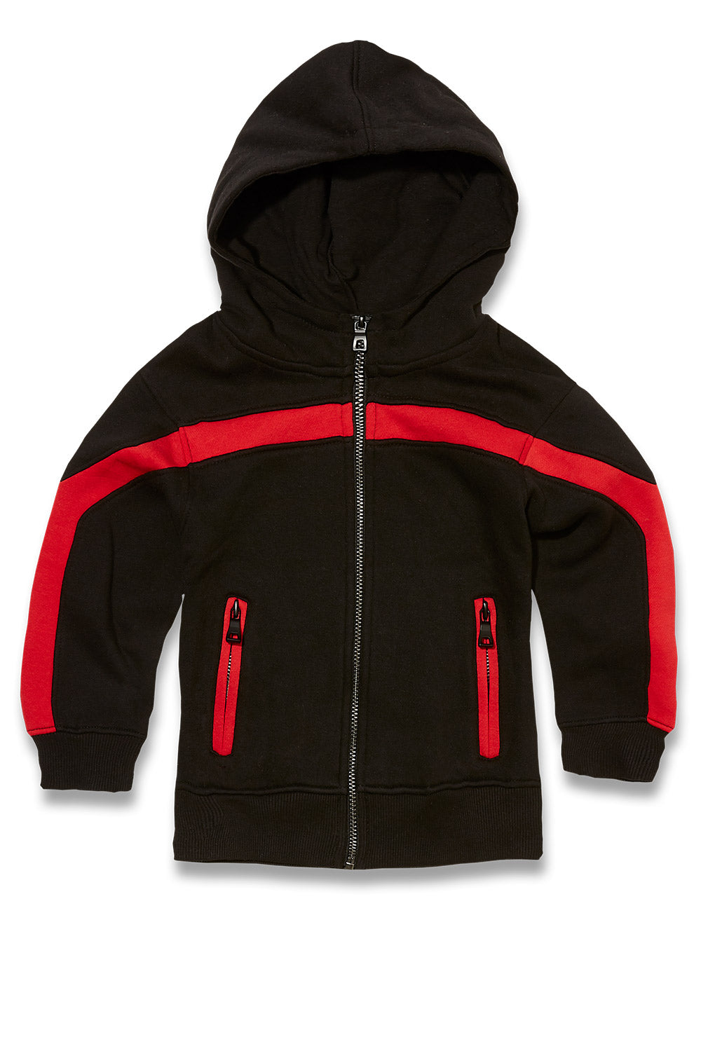 Jordan Craig - Kids Essential Fleece Track Hoodie (Crimson)