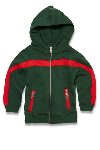 Jordan Craig - Kids Essential Fleece Track Hoodie (Green)