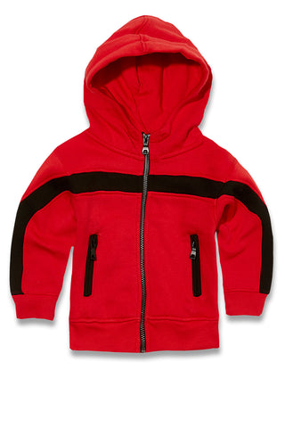 Jordan Craig - Kids Essential Fleece Track Hoodie (Red)