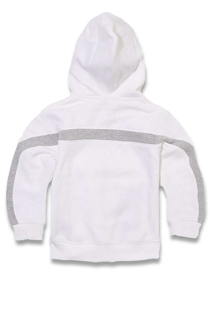 Jordan Craig - Kids Essential Fleece Track Hoodie (White)