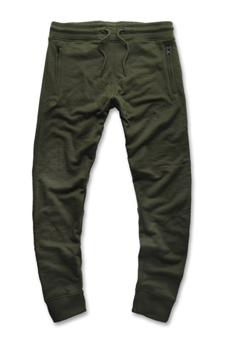 French Terry Essential Jogger Sweatpants (Army Green)