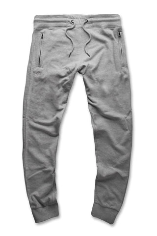 French Terry Essential Jogger Sweatpants (Heather Grey)