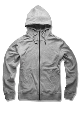 French Terry Essential Zip Up Hoodie (Heather Grey)