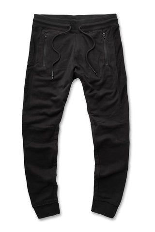 Jordan Craig - French Terry Paneled Joggers (Black)