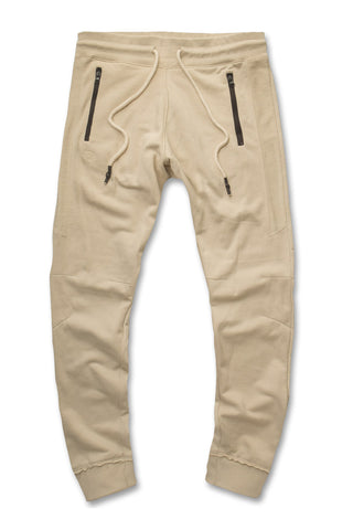 Jordan Craig - French Terry Paneled Joggers (Cream)