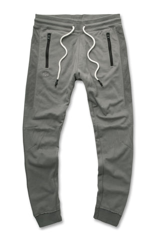 Jordan Craig - French Terry Paneled Joggers (Slate)