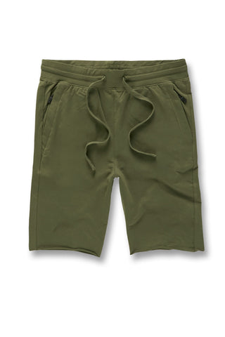 Palma French Terry Shorts (Army Green)