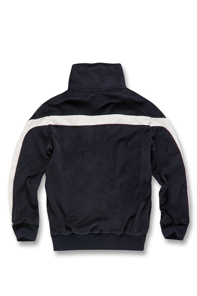 Jordan Craig - Kids Luciano Velour Top (Navy)