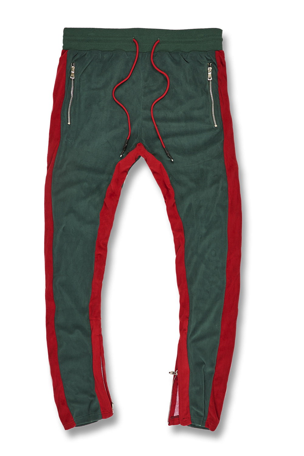 Jordan Craig - Big Men's Luciano Velour Pants (Green)