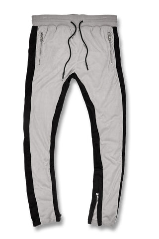 Jordan Craig - Big Men's Luciano Velour Pants (Grey)