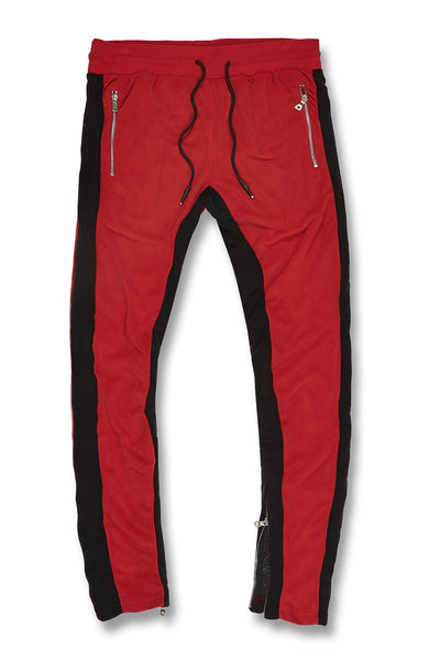 Luciano Velour Pants (Crimson)