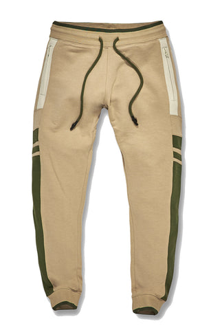 Jordan Craig - Big Men's Roma Track Pants (Khaki)