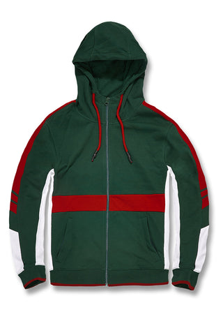 Jordan Craig - Big Men's Roma Track Hoodie (Green)