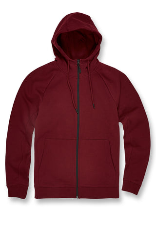 Jordan Craig - Big Men's Uptown Zip Up Hoodie (Wine)