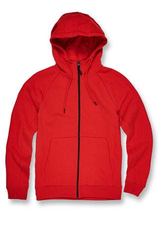 Big Men's Uptown Zip Up Hoodie (Red)