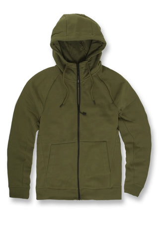 Jordan Craig - Big Men's Uptown Zip Up Hoodie (Olive)