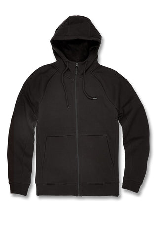 Uptown Zip Up Hoodie (Black)