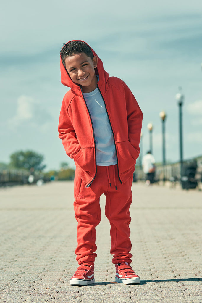 Jordan Craig - Kids Uptown Zip Up Hoodie (Red)