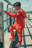 Jordan Craig - Kids Uptown Jogger Sweatpants (Red)