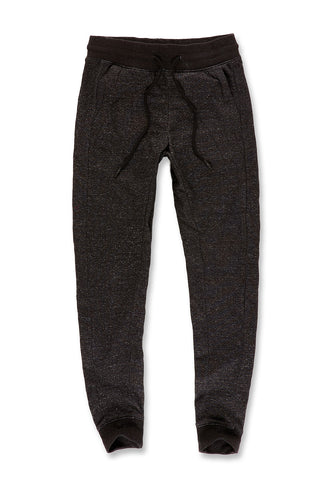 Melange Uptown Jogger Sweatpants (Black Shadow)