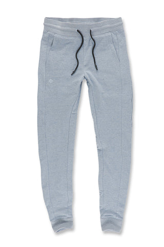 Melange Uptown Jogger Sweatpants (Ice Blue)