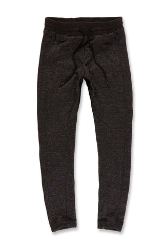 Melange Uptown Classic Sweatpants (Black Shadow)