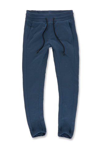Melange Uptown Classic Sweatpants (Royal Navy)