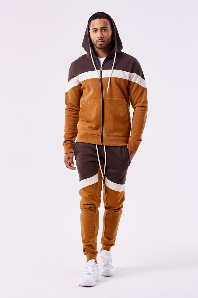 Varick Fleece Jogger Sweatpants (Burnt Orange)