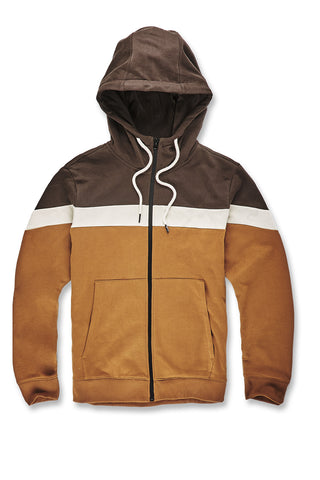 Varick Fleece Zip Up Hoodie (Burnt Orange)